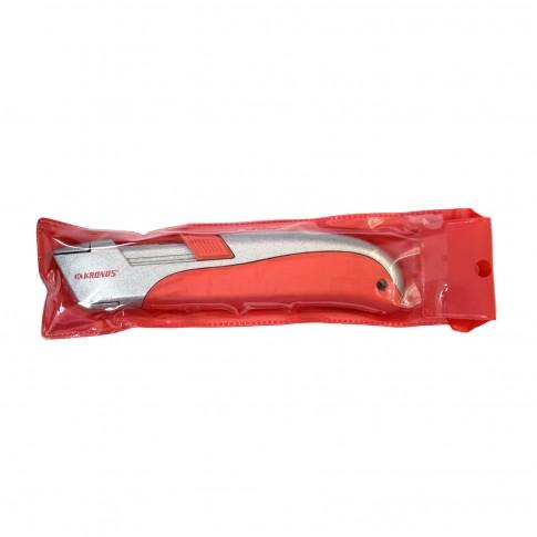 Cutter cu dubla securitate autoretractabil in husa PVC 7556SS.1
