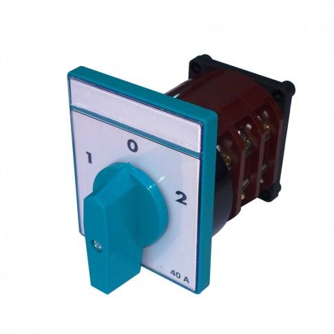 Intrerupator circular cu came Metop 63-019, 3 poli, pozitie 1-0-2, 40A