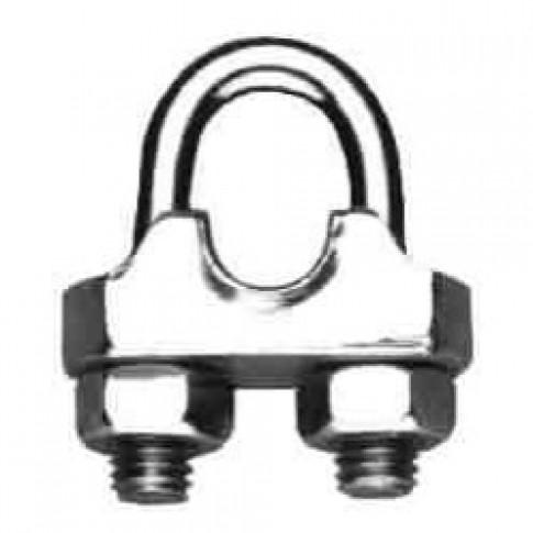 Brida zincata pentru legare cablu otel de 3 mm, Cablero CD011A03U, set 3 bucati