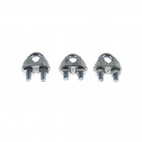 Brida zincata pentru legare cablu otel de 6 mm, Cablero CD011A06U, set 3 bucati