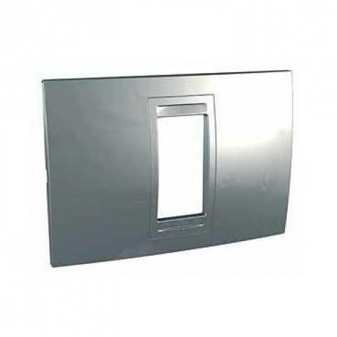 Rama Schneider Electric Unica Allegro MGU4.101.60, 1 modul, argintiu mat, pentru priza / intrerupator