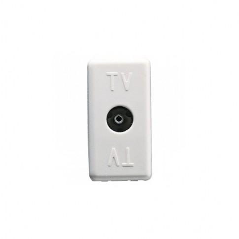 Priza TV directa System GW20228, 0Db, modulara - 1 m, alba
