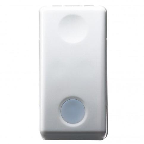 Intrerupator simplu cu indicator luminos Gewiss System GW20572, incastrat, modular - 1, alb
