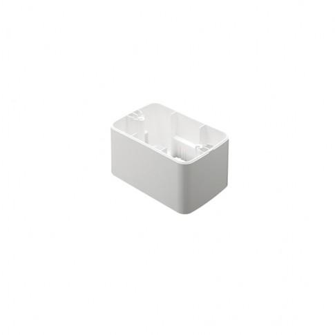 Cadru aparent Gewiss System Top GW22471, 3 module, alb, pentru priza / intrerupator