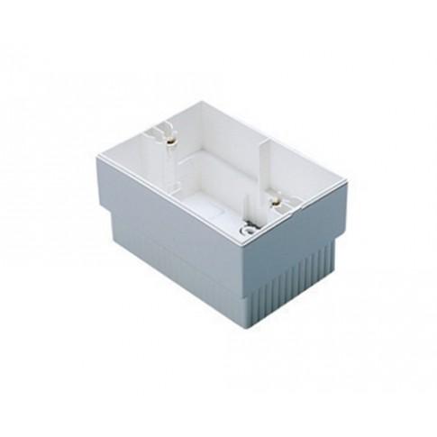 Cadru aparent Gewiss System Virna GW32431, 3 module, alb, pentru priza / intrerupator