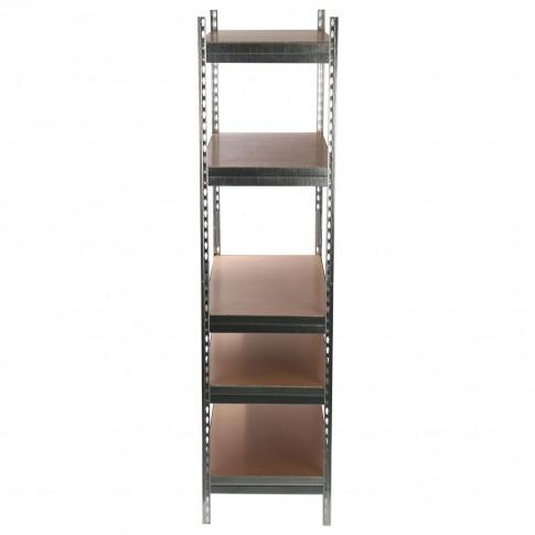 Raft metalic depozitare, Stabil, 192 x 75 x 35 cm, gri,175 kg/polita