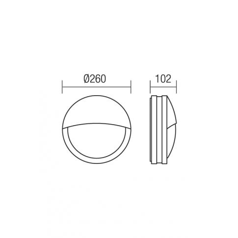 Aplica exterior Sonar 9394, 1 x E27