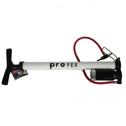 Pompa manuala Fischer Profex, cu manometru, aluminiu