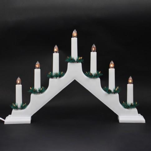 Decoratiune arc cu 7 becuri, Hoff, alba, alimentare priza