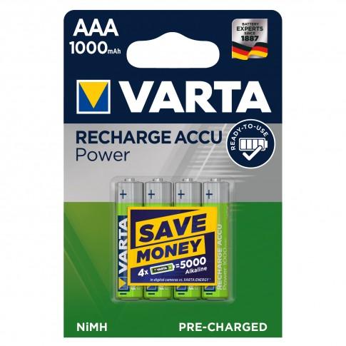 Acumulator Varta Accu Power 5703, AAA / HR03, 1.2V, 1000 mAh, 4 buc
