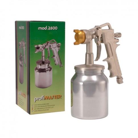 Pistol de vopsit pneumatic, Profimaster 2800, cu cupa jos, 1 litru