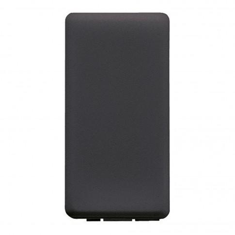 Obturator Gewiss System GW21056-1BL, 1 modul, negru, pentru priza / intrerupator