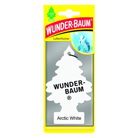 Odorizant auto, bradut, Wunder - Baum, Arctic White, 7.6 x 0.3 x 19 cm