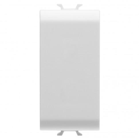 Obturator Gewiss Chorus GW10195-1BL, 1 modul, alb, pentru priza / intrerupator