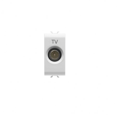 Priza TV directa tata Chorus GW10361-1BL, modulara - 1 m, alba