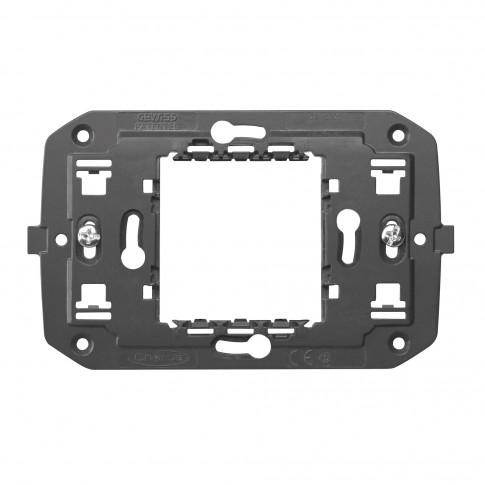 Suport Gewiss Chorus GW16802-1BL, 2 module, pentru rama priza / intrerupator