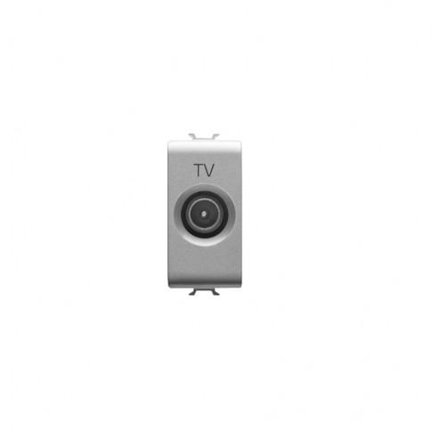 Priza TV de trecere Chorus GW14362-1BL, modulara - 1 m, gri - titan