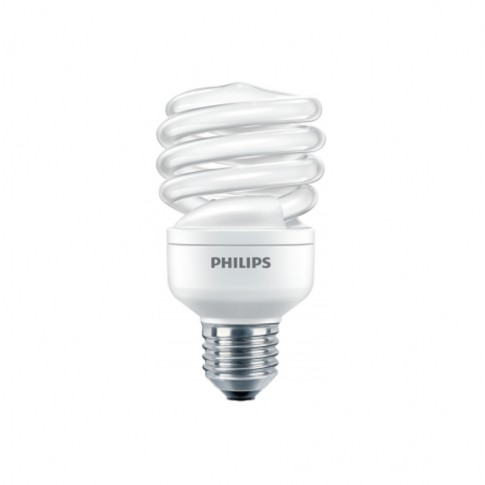 Bec economic E27 Philips Economy Twister spiralat 20W lumina calda