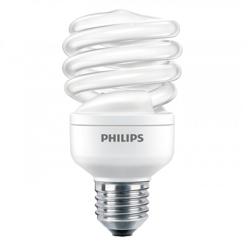 Bec economic Philips Economy Twister spiralat E27 20W 1180lm lumina rece 6500 K