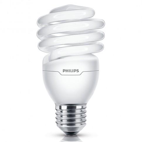 Bec economic Philips Economy Twister spiralat E27 23W 1400lm lumina calda 2700 K