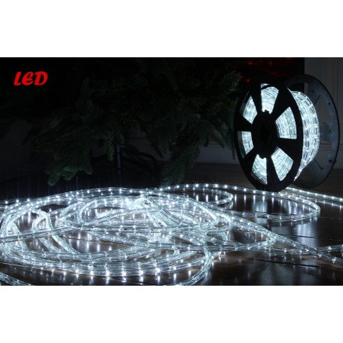 Cablu luminos LED Hoff alb interior / exterior 11 mm