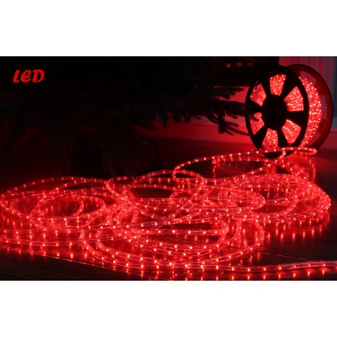 Cablu luminos LED Hoff rosu interior / exterior 11 mm