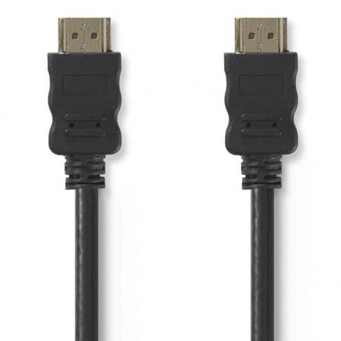 Cablu de mare viteza HDMI - HDMI Nedis CVGP34000BK50, functie Ethernet, 5 m, negru