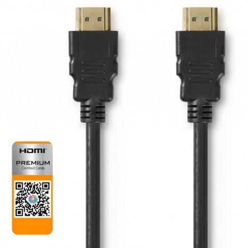 Cablu HDMI cu Ethernet HDMI tata, mini HDMI tata, CVGP34500BK15, Nedis, 1.5m, negru