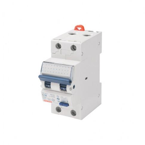 Intrerupator automat modular diferential Gewiss  GW94007, 1P+N, 16A, curba C