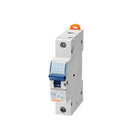 Intrerupator automat modular Gewiss  GW92108, 1P, 16A, curba C