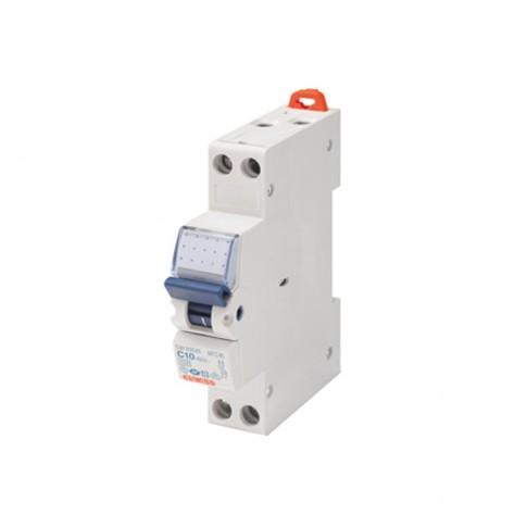 Intrerupator automat modular Gewiss  GW90026, 1P+N, 10A, curba C