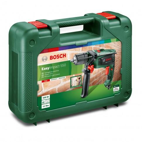 Masina de gaurit / insurubat cu percutie, Bosch EasyImpact, 550 W