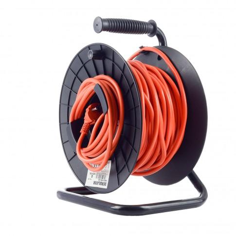 Derulator cablu electric, 1 priza, 27 + 3 m, 3 x 1.5 mmp, contact de protectie