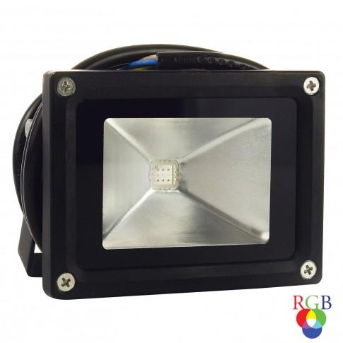 Proiector simetric cu LED Hepol 10W RGB, cu telecomanda