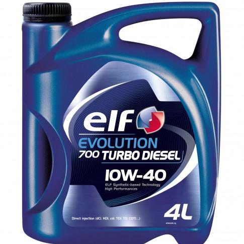 Ulei motor auto Elf Evolution 700 Turbo Diesel, 10W-40, 4 L