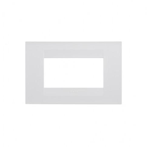 Rama Gewiss Chorus GEO GW16404TB, 4 module, alba, pentru priza / intrerupator
