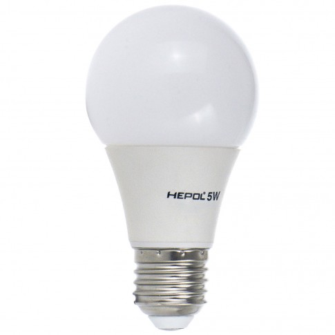 Bec LED Hepol clasic A60 E27 5W 400lm lumina calda 3000 K