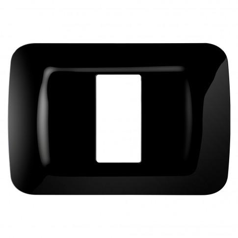 Rama Gewiss Top System GW22511, 1 modul, neagra, pentru priza / intrerupator