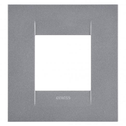 Rama Gewiss Chorus GEO International GW16422VT, 2 module, orizontala, gri titan, pentru priza / intrerupator