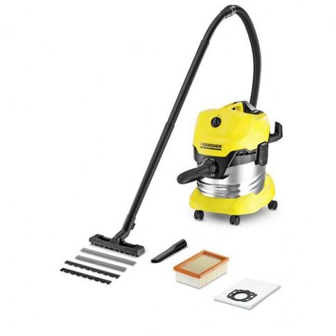 Aspirator Karcher WD 4 Premium 1.348-150.0, cu sac, multifunctional, aspirare uscata si umeda, 20 l, 1000 W