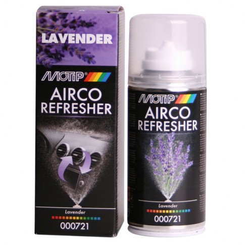 Odorizant auto spray pentru aer conditionat, Motip, aroma lavanda, 150 ml