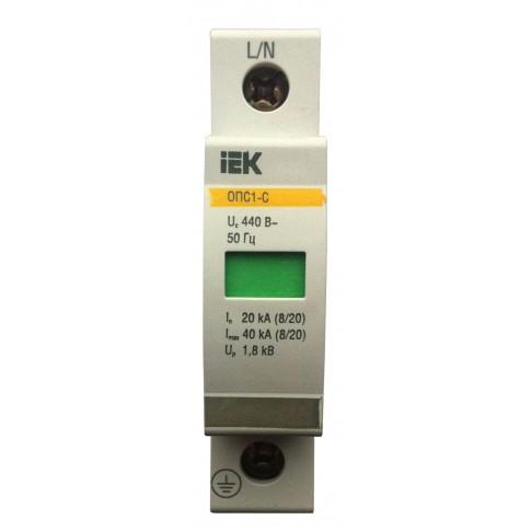 Descarcator la supratensiuni IEK OPS1-D, 1 pol, 5kA