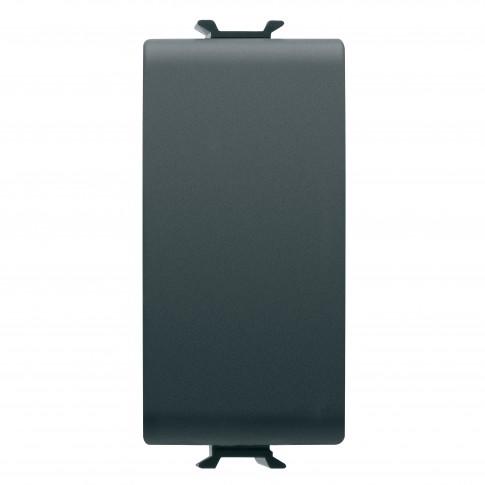 Intrerupator simplu Gewiss Chorus GW12001, incastrat, modular - 1, 16A, negru