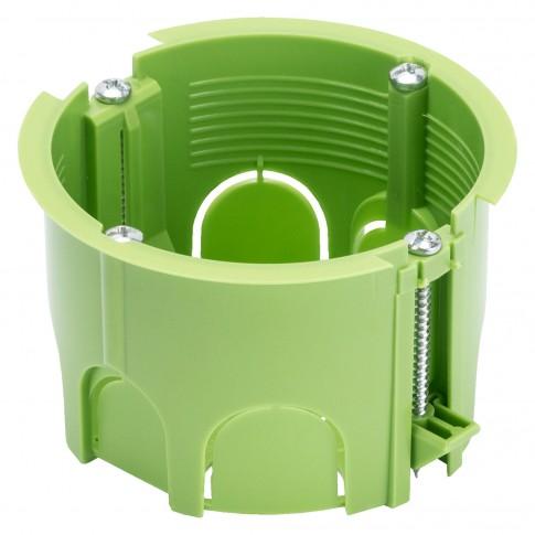 Doza aparat gips carton, Gewiss GW24234PM GC, incastrata, 65 x 45 mm, verde