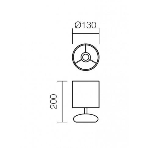 Veioza Five 01-858, 1 x E14, gri