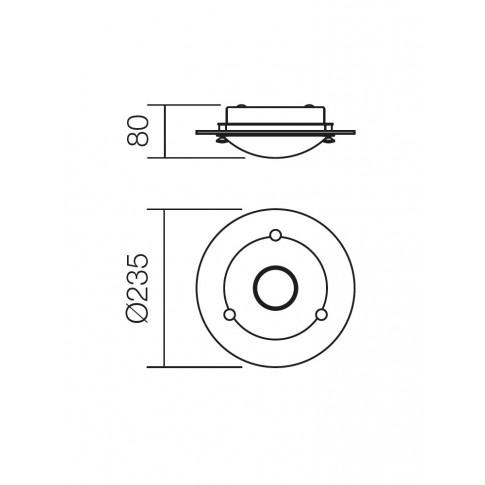 Plafoniera LED Xena 05-742, 6W