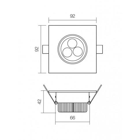 Spot LED incastrat MT 116 70318, 3W, lumina neutra, orientabil, alb mat