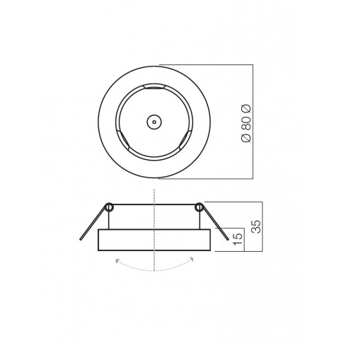 Spot incastrat MT 110 70279, GU5.3, orientabil, nichel mat