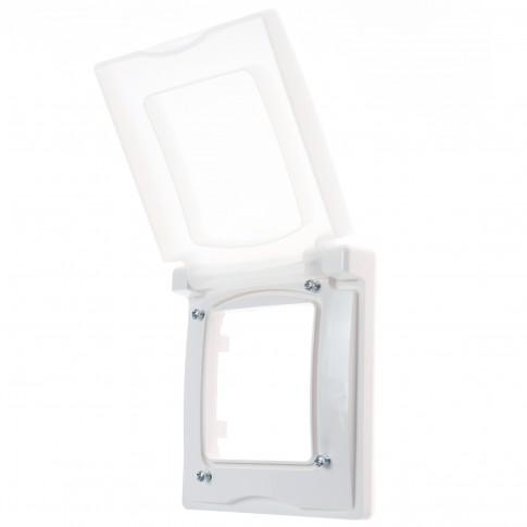Capac protectie IP44 - IK07 Legrand Niloe 397808, 1 post, alb, pentru priza / intrerupator