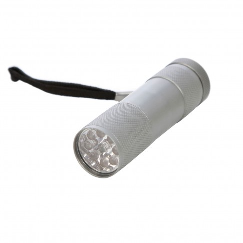 Lanterna LED Hoff, alimentare baterii (3 x AAA), 0.5W, 40 lm, aluminiu, IP65